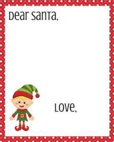dear templates free dear santa printable set