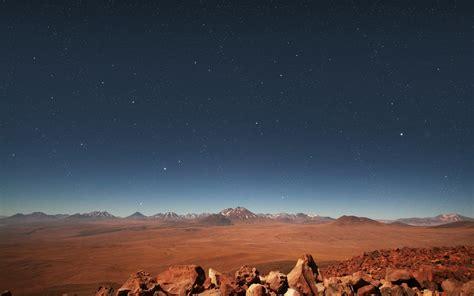 desert night stars stones wallpapers desert night