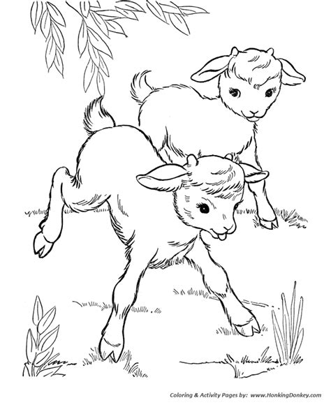 Baby Farm Animals Coloring Pages free coloring pages of baby animal