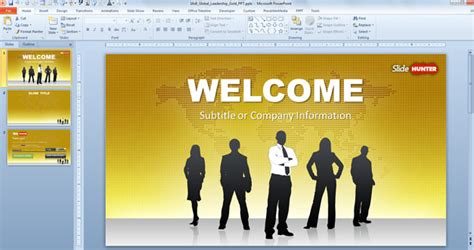 ppt templates for leadership free download free widescreen global leadership gold powerpoint template