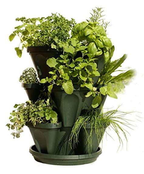 self watering vertical planters 3 tier stackable garden indoor outdoor vertical