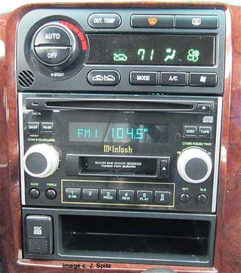 mcintosh car audio subaru 2001 h6 vdc or not subaru outback subaru outback forums