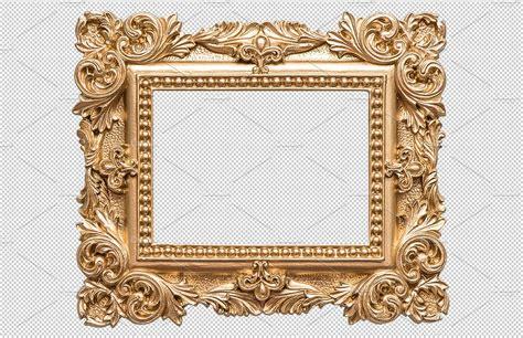 Frame Vintage 1 golden picture frame png objects creative market