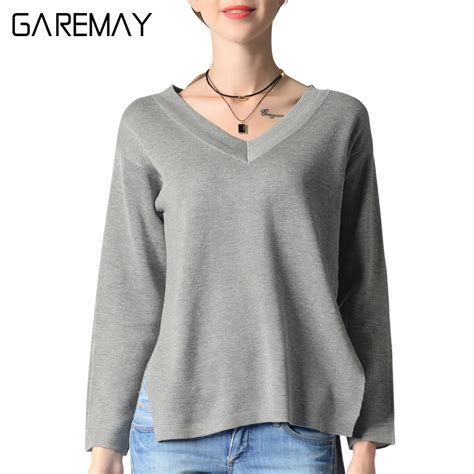 Sweater Wanita Black Casual For F118 s black sweater v neck jumper casual split sweater fall fashion pullover femme pull