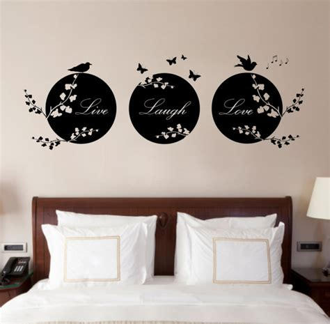 love wall decor bedroom live laugh love quote vinyl wall art sticker decal by purrfic