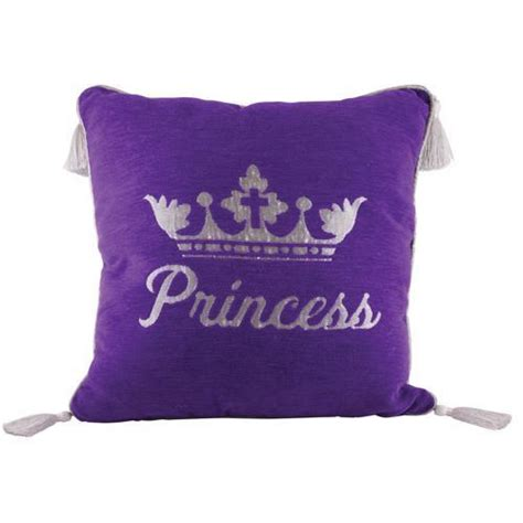Pillow Princess by Purple Princess Pillow With Silver Lettering And Tassels