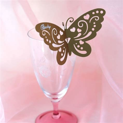 Butterfly Place Cards For Glasses Template by How To Make Butterfly Place Cards With Silhouette Cameo