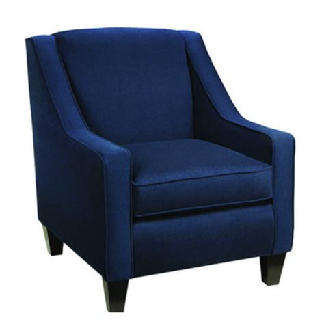 Navy Blue And White Accent Chair Furniture Blue Upholstered Chair With Arm And Back Rest Using Black Wooden Tapered Leg On White