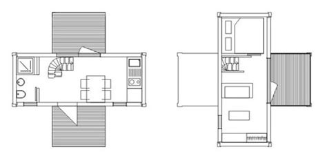 container architecture floor plans 2 weekend modern container small house digsdigs