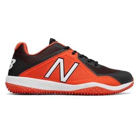 baseball turf shoes new balance black orange 4040v4 baseball turf shoes
