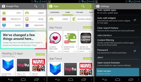 play store for android play store version 4 0 available now android community