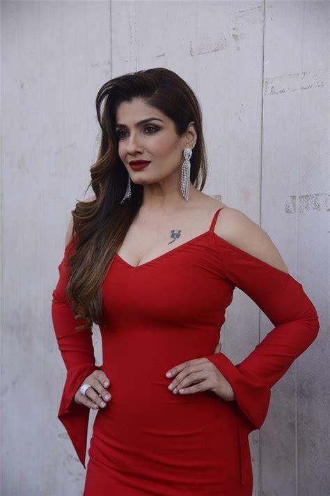 bollywood actress hot dress images bollywood actress raveena tandon hot in red dress photos