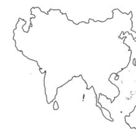 asia map coloring pages hellokids com