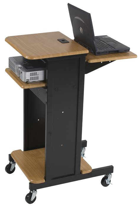 computer desk with laptop stand furniture dark wooden standing laptop desk on wheels