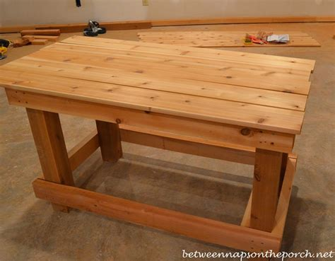 how to build a table build a potting bench or garden buffet table pottery barn