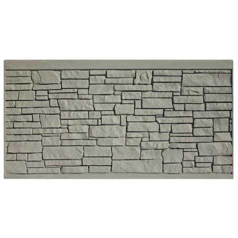 Decorative Fence Panels Home Depot Simtek 4 Ft H X 8 Ft W Ecostone Gray Composite Fence Panel Fp48x96egry The Home Depot