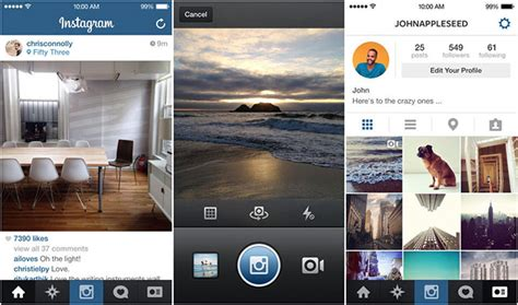 instagram layout for windows 7 instagram for iphone updated for ios 7
