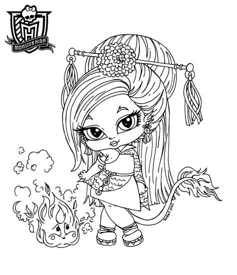 monster high coloring pages deviantart baby jenafire long by jadedragonne deviantart com on