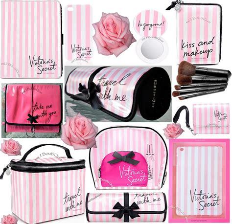 Make Secret Pink Sr 1 s secret vs pink stripe travel hanging makeup brush bag ebay