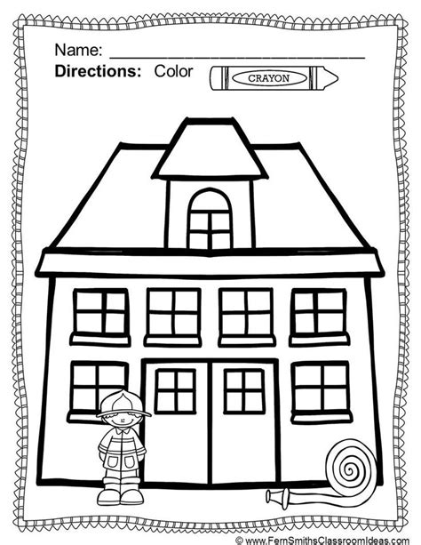fire prevention and safety fun color for fun printable