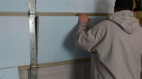 isoler la porte d un garage basculante battante ou