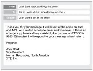 auto reply email template best photos of email away message exles out of office
