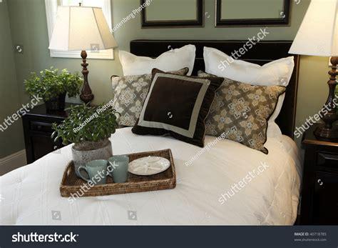 htons bed and breakfast luxury bedroom stylish decor bed tray stock photo 40718785