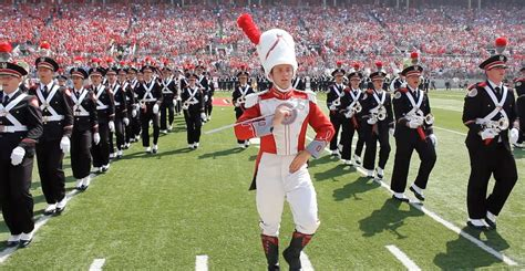 state majors the one out front ohio state drum major david pettit