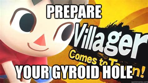 Funny Villager Memes - prepare your gyroid hole sadistic villager quickmeme