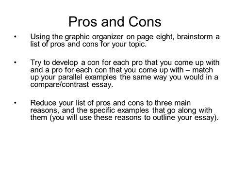 The Penalty Pros And Cons Essay by Pros And Cons Essay Tips
