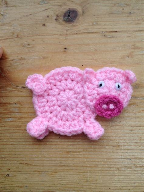 pattern crochet pig hand crochet pig applique embellish motif in other crochet