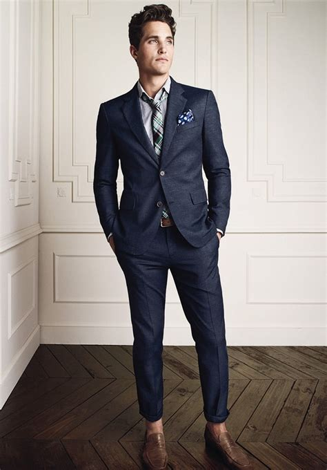 fabulous blue suit brown shoes belt to compliment