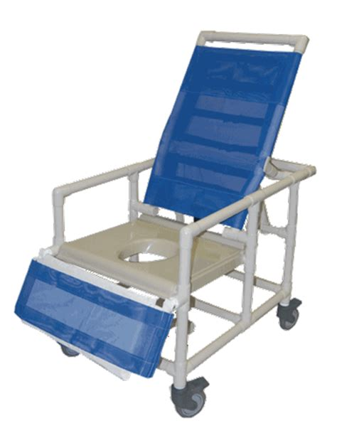 pvc reclining shower chair healthline pvc bariatric reclining shower commode chair