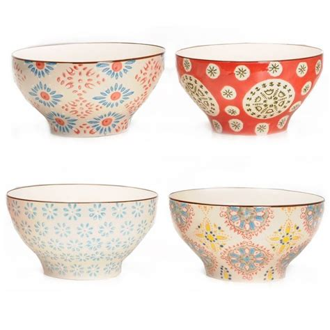 chehoma multi colored bohemian bowls set of 4 general