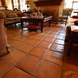 Kitchen Floor Covering Ideas Durable Cement Rustic Spanish Paver Tiles Offer Time