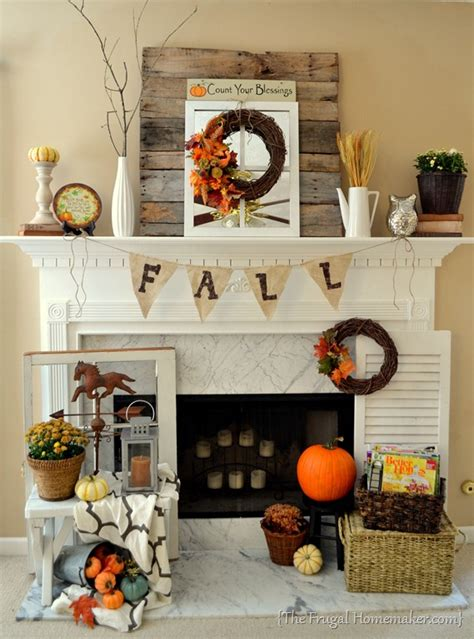 mantel decorations for fall fall mantel decorated with reclaimed pallet wood