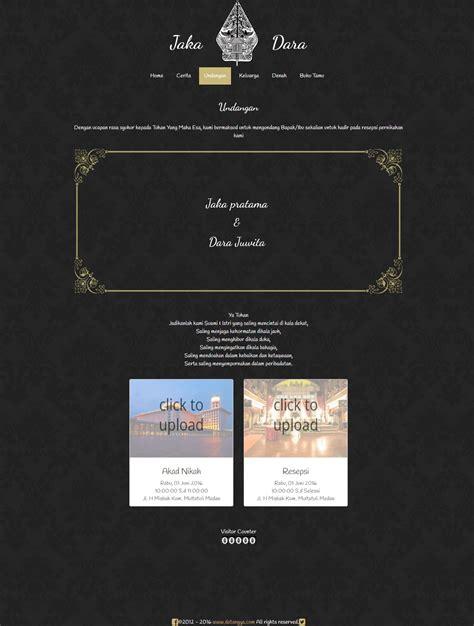 desain undangan pernikahan yang elegant desain undangan online elegant traditional datangya com
