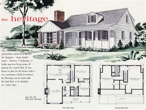 Heritage Style House Plans by 1960s Style House Plans 1960s Floor Plans For Houses