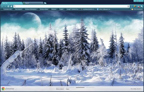 chrome themes winter winter themes for chrome firefox and internet explorer