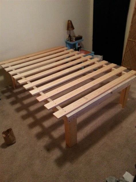 Make A Bed Frame Cheap Cheap And Easy Diy Platform Bed 55 I Want Mdf The Mattress 15 Quot Clearance