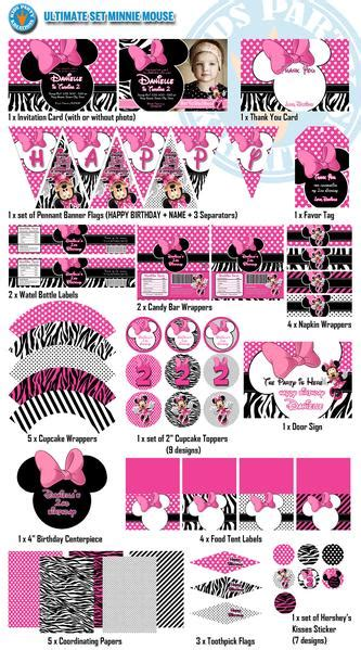 kährs grande collection minnie mouse birthday decor pack invitations wrappers