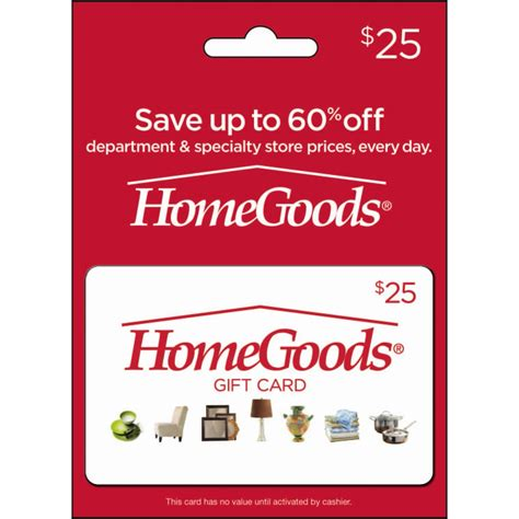 Home Good Gift Card - homegoods gift card home gifts food shop the exchange