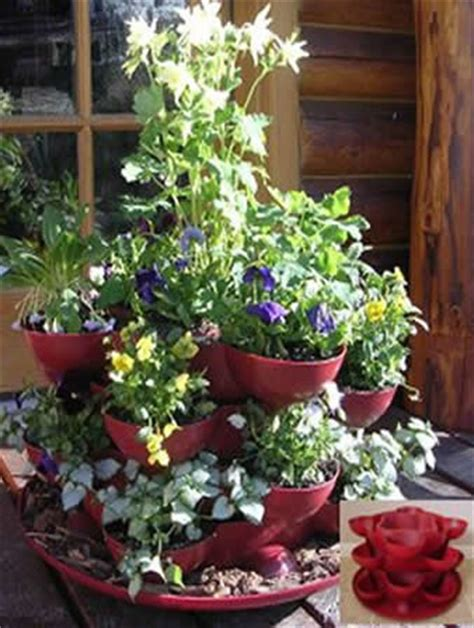 patio deck garden planter with flower arrangement