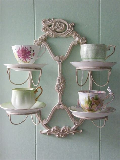 17 best images about tea cups on wall racks