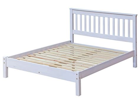 Abdabs Furniture Corona Whitewash Double Bed Frame Corona Bed Frame