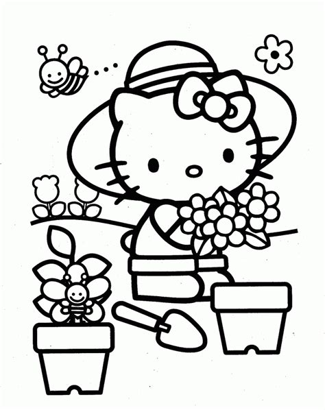 hello kitty coloring pages pdf hello kitty coloring page hello kitty az coloring pages