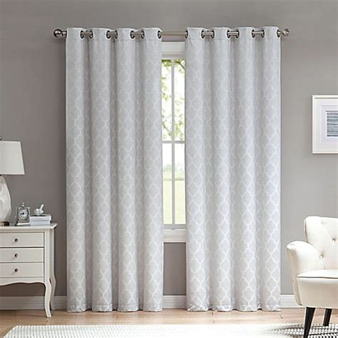 window with drapes marrakesh grommet top window curtain panel bed bath beyond