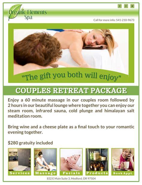 Couples Retreat Packages Couples Retreat Package Organic Elements Spa