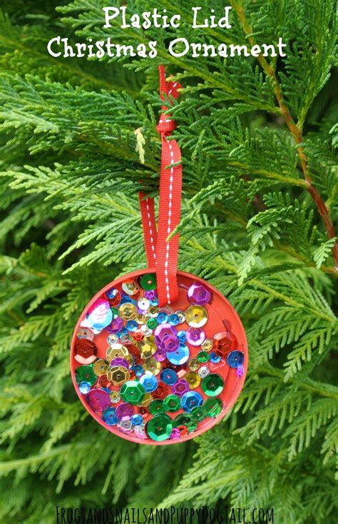 child made christmas ornaments plastic lid ornament for to make fspdt