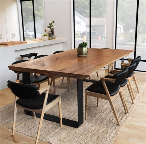 slab dining room table best 25 wood slab dining table ideas on pinterest live